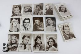 Approx. 100 Real Photographic Vintage Film Star Postcards