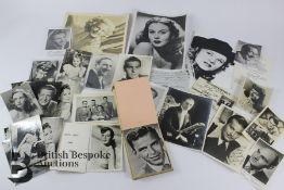 Quantity of Hand Signed Photographs and an Autograph Book incl. Frank Sinatra
