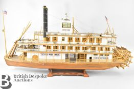 Scale Model of a Mississippi Steam Ship