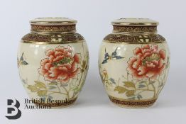 Pair of Satsuma Ginger Jars and Covers