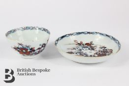 18th Century English Porcelain Tea Bowl and Saucer