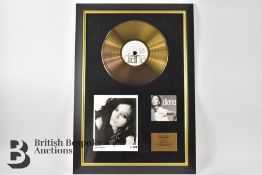 Diana Ross Signed Photograph and Gold Disc