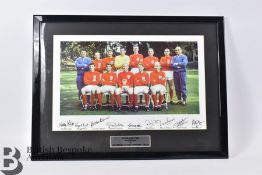 Signed England World Cup Photographs 1966