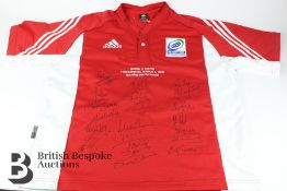 Signed Rugby Shirt from Rugby Aid 2005 Northern VS Southern Hemisphere