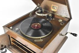 Vintage Oak Cased Gramophone