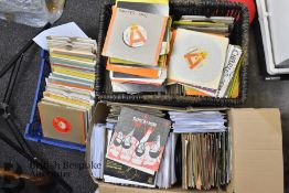 Approx. 475 45rpm Records Plus 100+ Advance Copy/Promo Singles