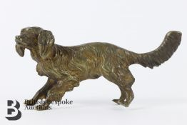 Cold Painted Bronze Spaniel Figurine