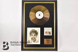 Lena Horne Signed and Framed Gold Disc