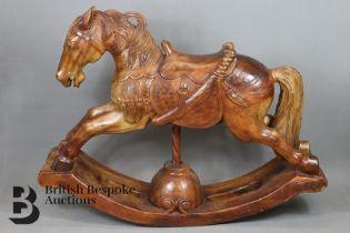 Carved Middle Eastern Rocking Horse