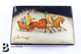 20th Century Russian Enamel Box and Cover