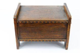 Arts and Crafts Oak Pipe Box