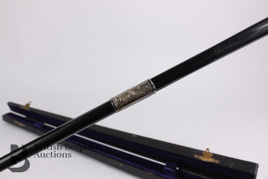 Victorian Ebony and Silver Mounted Conductor's Baton - Image 3 of 12