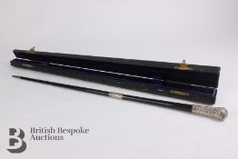 Victorian Ebony and Silver Mounted Conductor's Baton