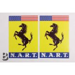 N.A.R.T (North American Racing Team) Prancing Horse Stickers