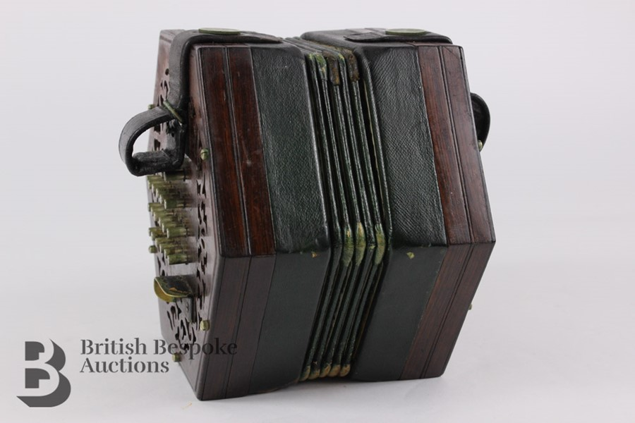 19th Century Louis Lachenal Rosewood Concertina - Image 2 of 7