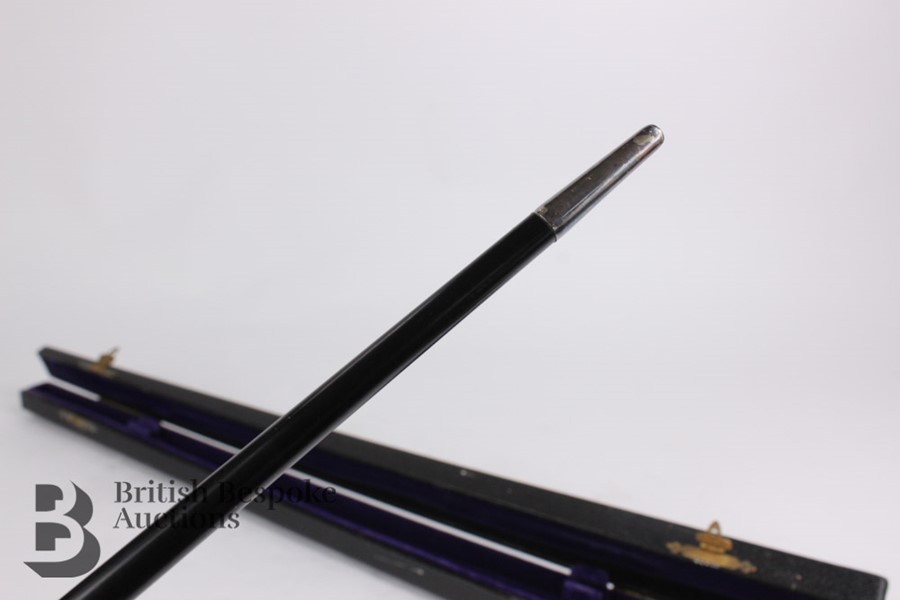 Victorian Ebony and Silver Mounted Conductor's Baton - Image 9 of 12