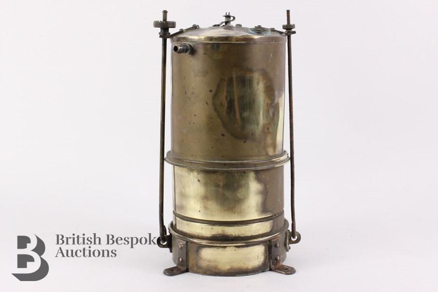 Rare Brass Running Board Mounted Acetylene Lamps Generator - Image 5 of 7