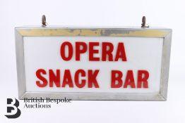 Royal Opera House Snack Bar Sign