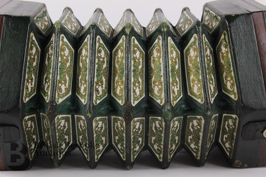 19th Century Louis Lachenal Rosewood Concertina - Image 6 of 7