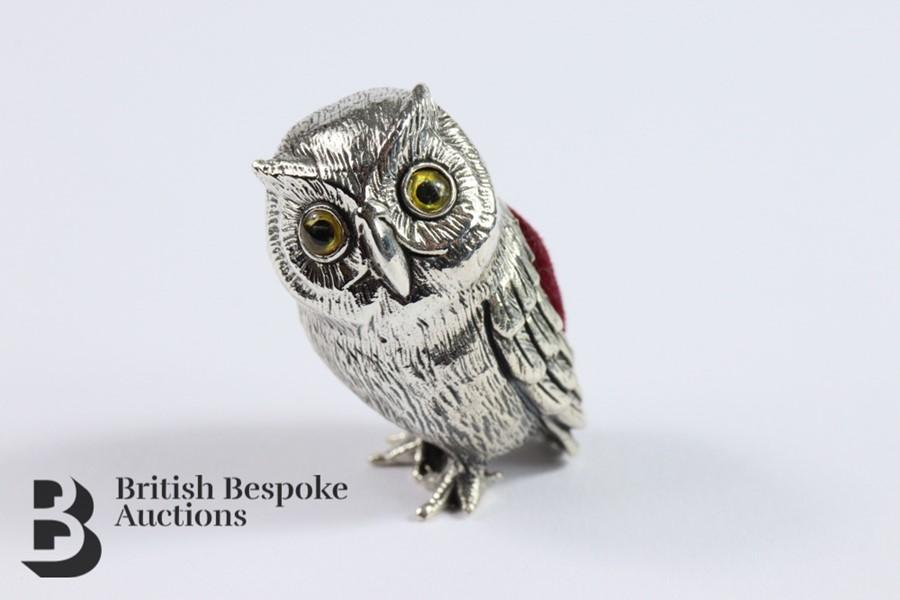 Silver Owl Pin Cushion