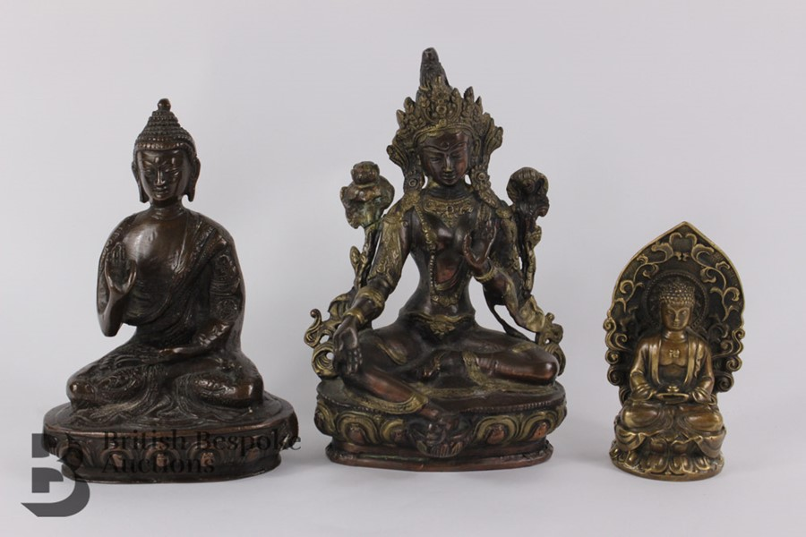 Three South Asian Bronzed Figurines