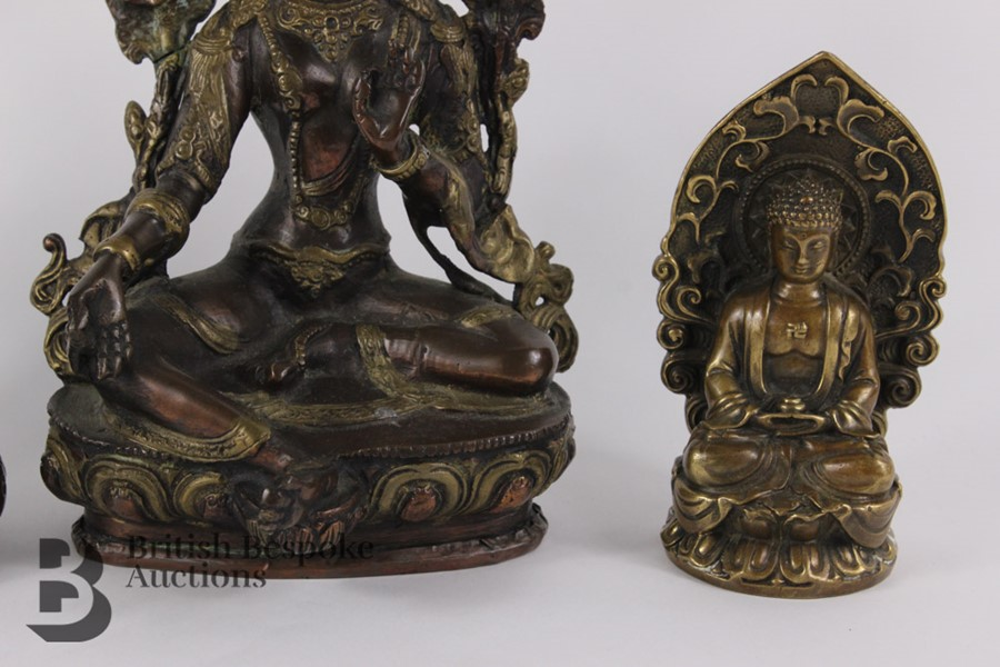 Three South Asian Bronzed Figurines - Image 6 of 10