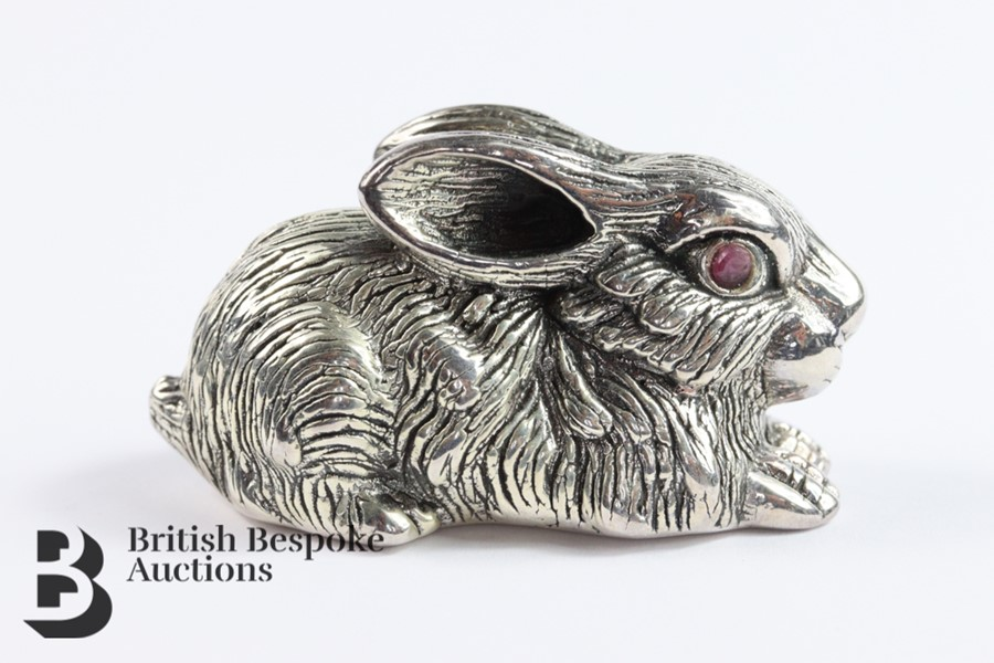 Large Silver Rabbit - Image 2 of 4