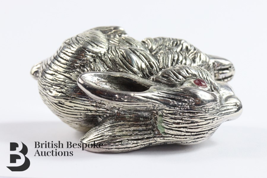 Large Silver Rabbit - Image 4 of 4