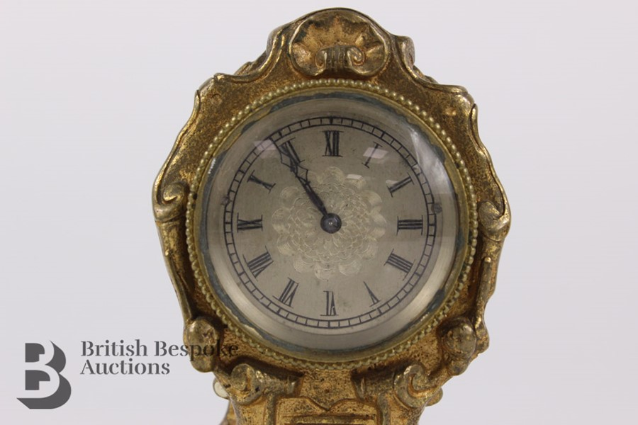 Russian Miniature Clock - Image 3 of 7