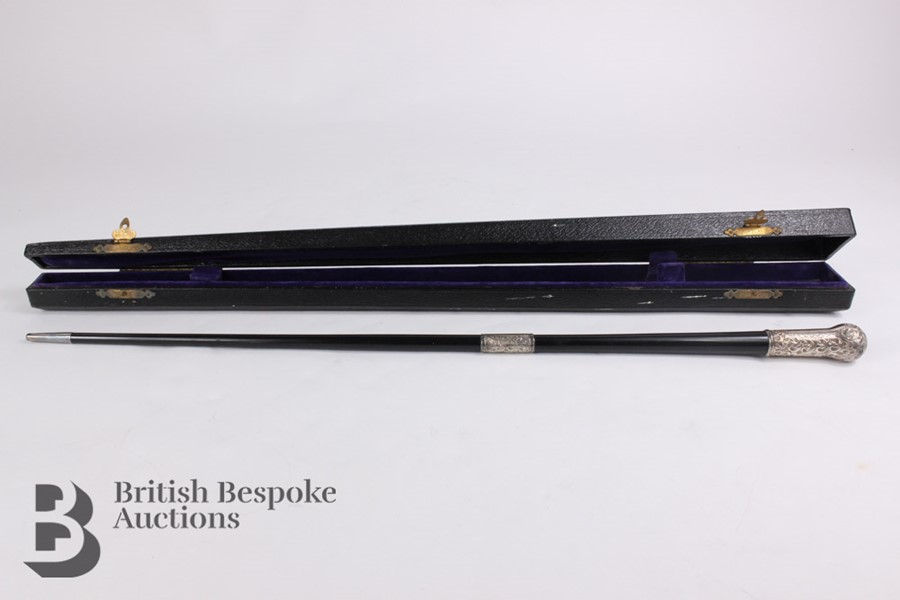 Victorian Ebony and Silver Mounted Conductor's Baton - Image 10 of 12