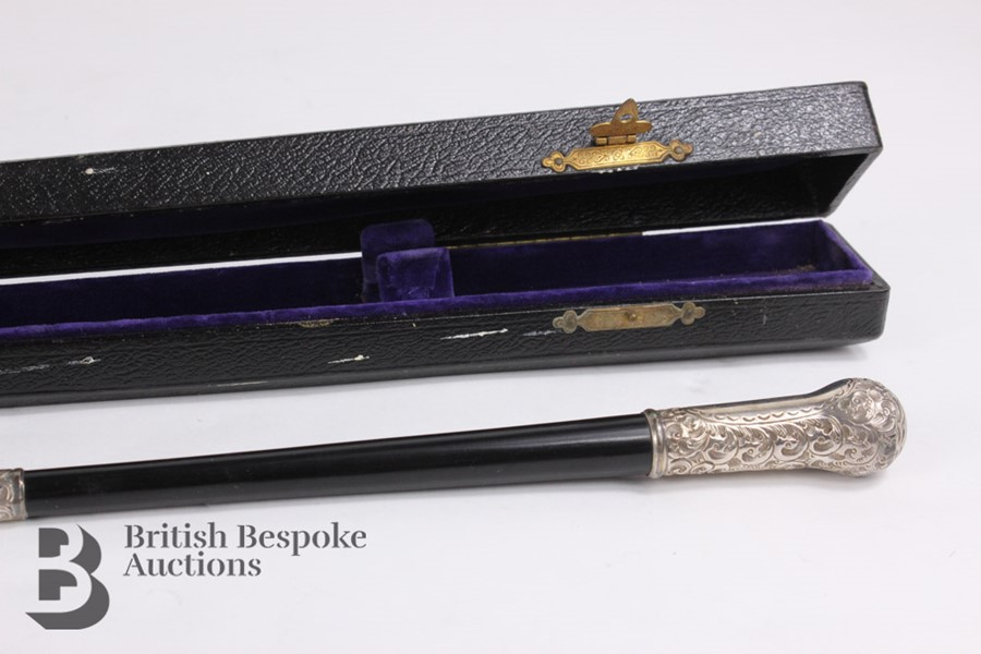 Victorian Ebony and Silver Mounted Conductor's Baton - Image 11 of 12