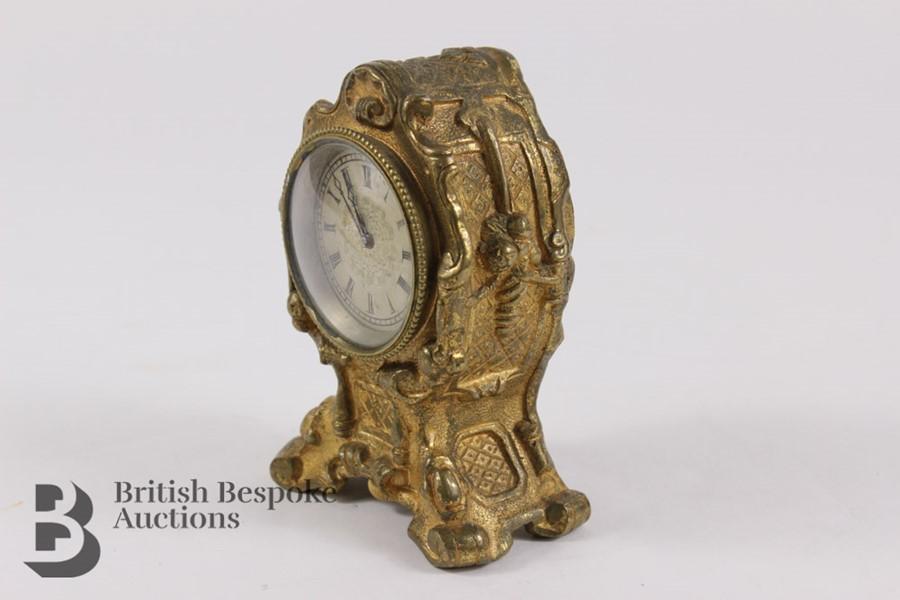 Russian Miniature Clock - Image 2 of 7