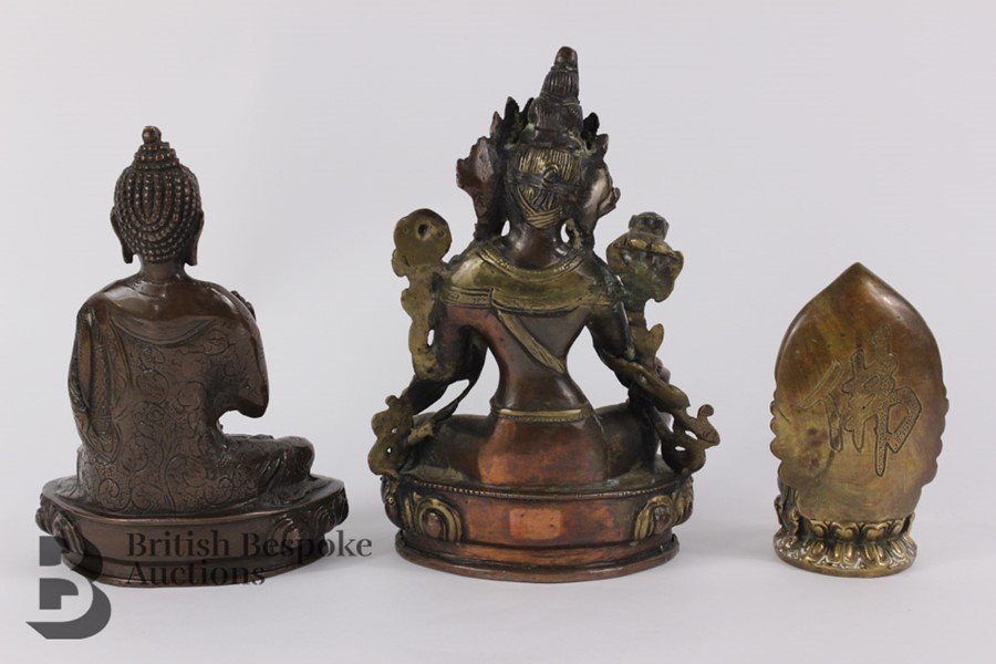 Three South Asian Bronzed Figurines - Image 7 of 10