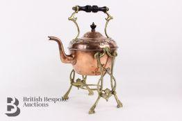 Art Nouveau Copper Kettle