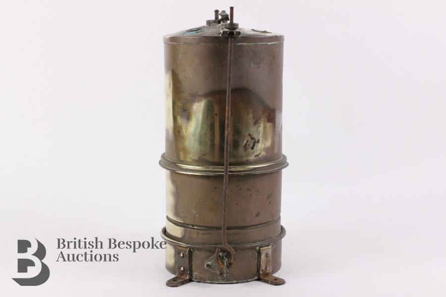 Rare Brass Running Board Mounted Acetylene Lamps Generator - Image 4 of 7