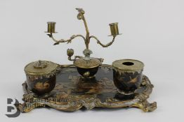 19th Century Chinoiserie Ink Stand