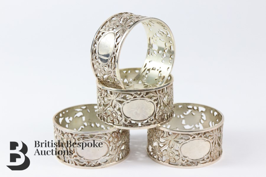 Four Silver Napkin Rings - Image 3 of 3