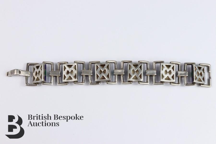 Silver and Guilloche Enamel Link Bracelet - Image 5 of 6