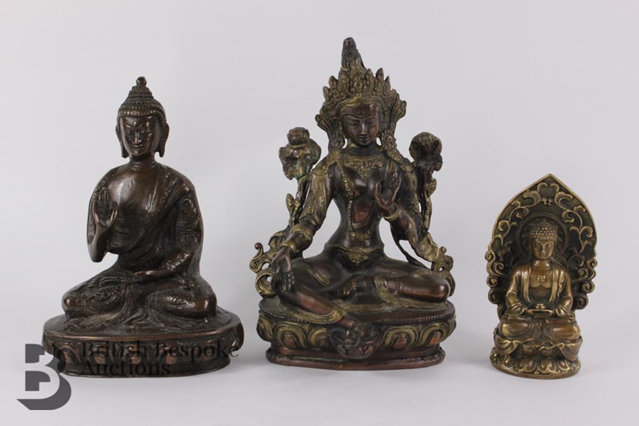 Three South Asian Bronzed Figurines - Image 2 of 10