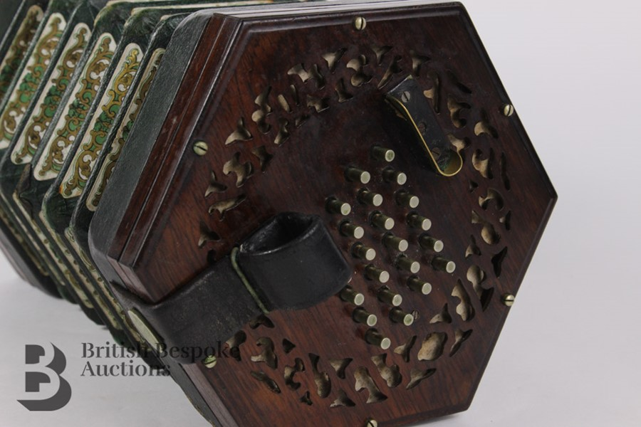 19th Century Louis Lachenal Rosewood Concertina - Image 4 of 7