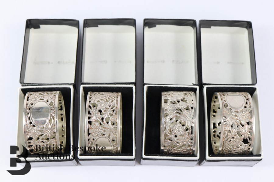 Four Silver Napkin Rings