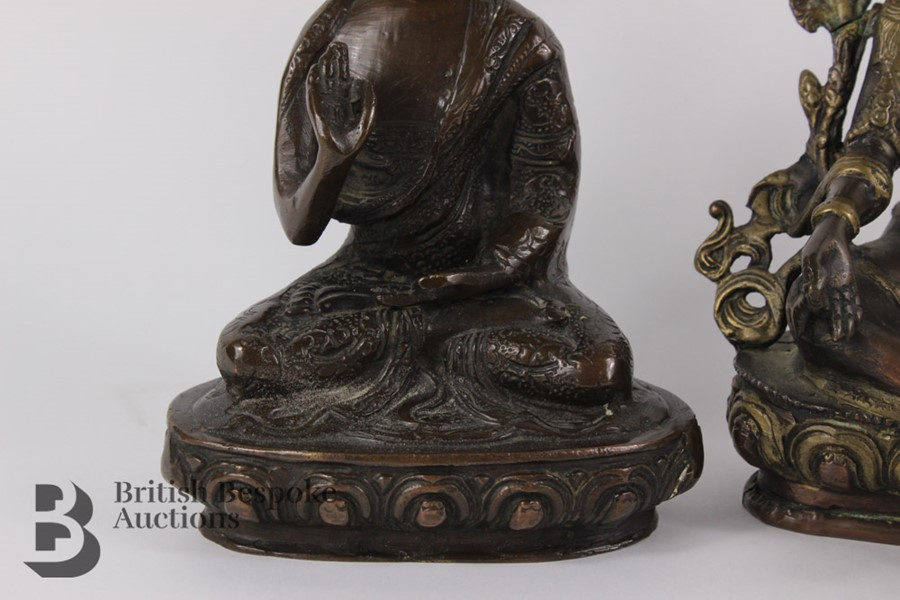 Three South Asian Bronzed Figurines - Image 4 of 10