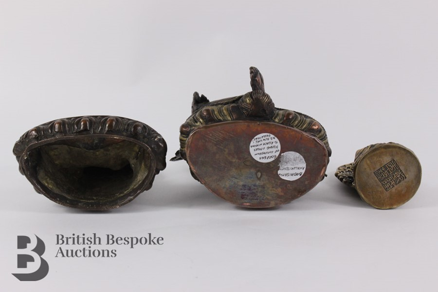 Three South Asian Bronzed Figurines - Image 8 of 10
