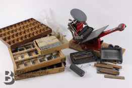 Hand Printing Press and Printing Letters