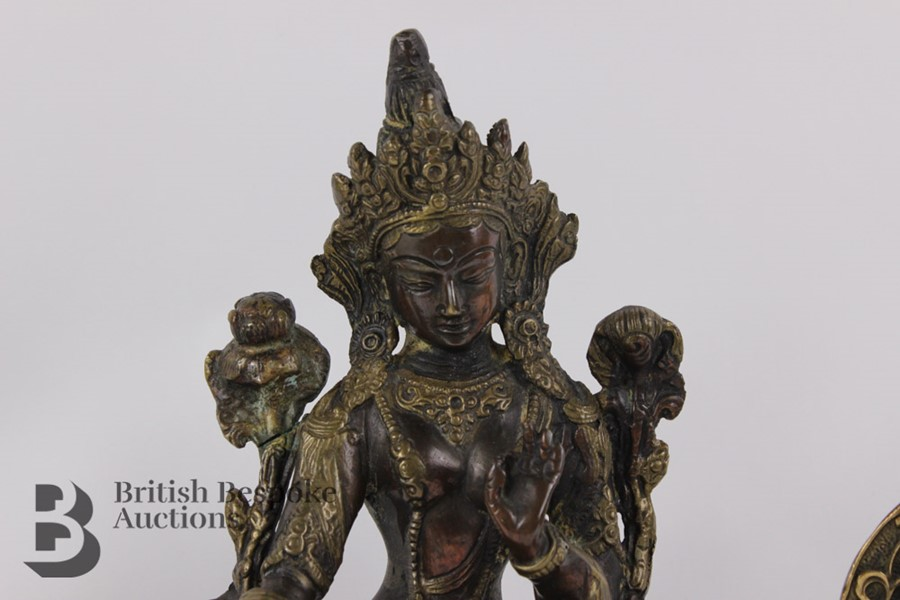 Three South Asian Bronzed Figurines - Image 5 of 10
