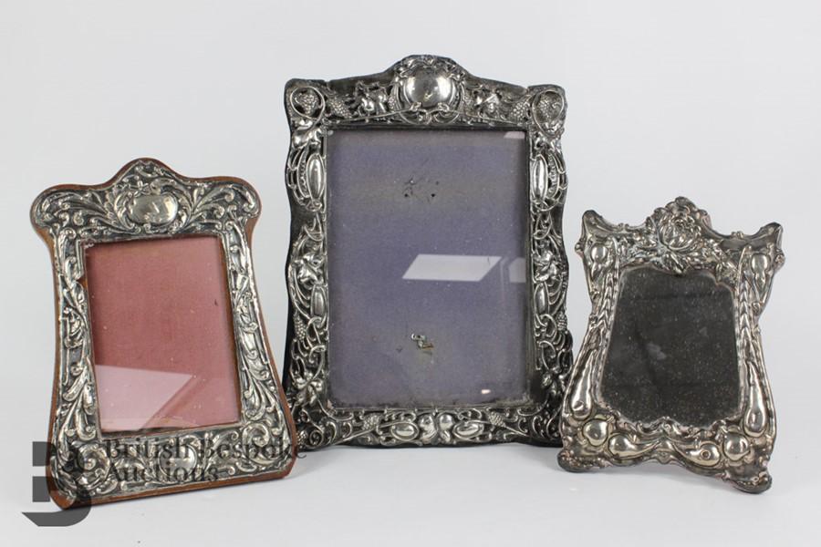 Silver Easel Back Photo Frames