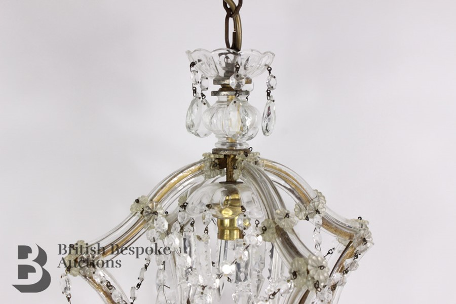 Pair of 20th Century Lantern Chandeliers - Image 2 of 5