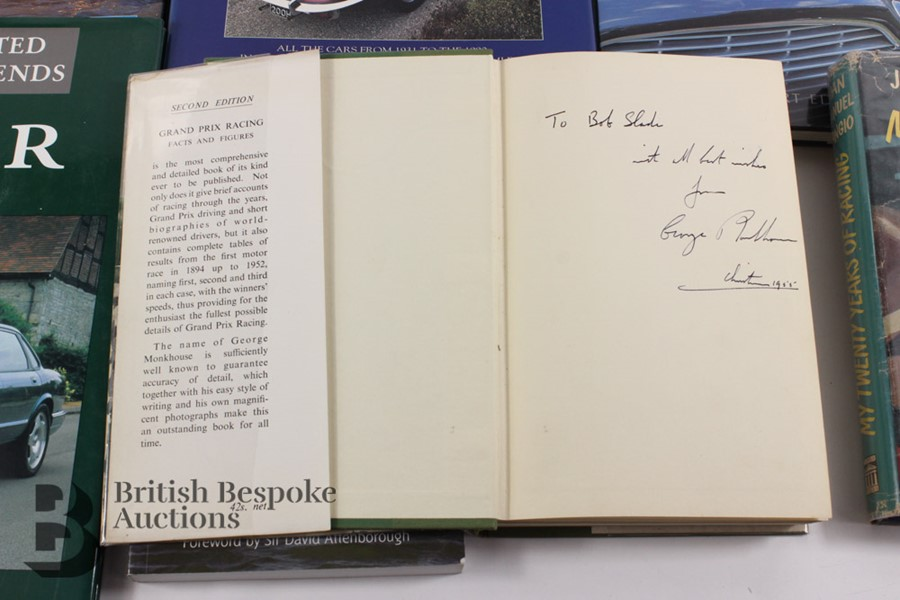 Quantity of Motoring Books Including Signed George Monkhouse 1955 - Image 6 of 7