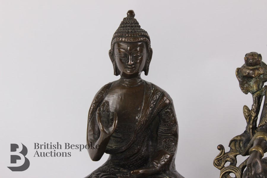 Three South Asian Bronzed Figurines - Image 3 of 10
