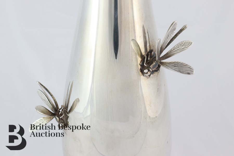 Thistle & Bee Silver Fluted Vase - Image 2 of 6